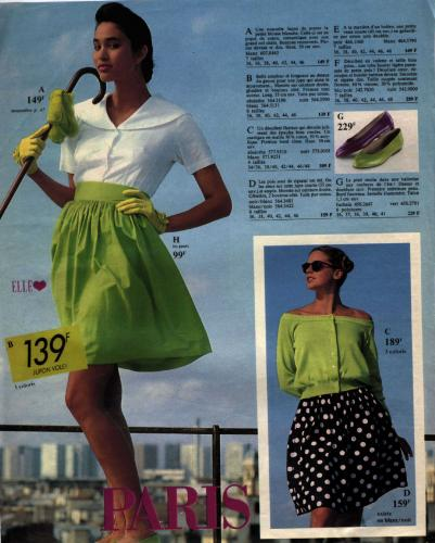 Shooting photos for fashion, La Redoute, years 80's