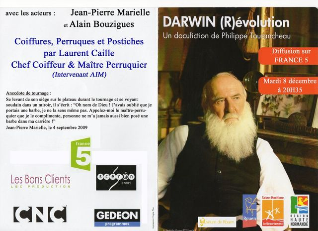 Affiche du docu-fiction Darwin, de Philippe Tourancheau.